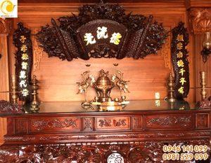 Bộ ngũ sự bằng đồng đỏ 55 cm bày bàn thờ gia đình