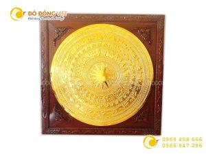 Mặt trống đồng mạ vàng, mặt trống đông sơn gò thủ công