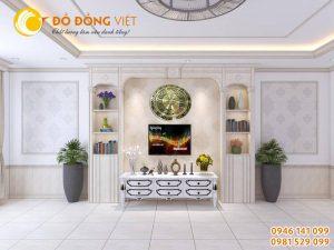 Đồng hồ trống đồng hình bản đồ Việt Nam làm quà tặng trang trí nội thất