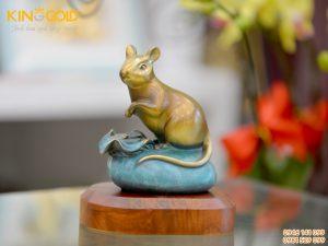 Tượng con chuột bằng đồng làm quà tặng tết 2020