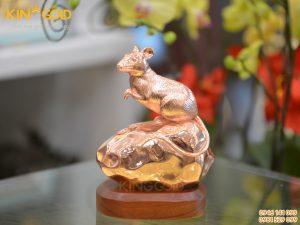 Tượng chuột bằng đồng đỏ- quà Tết Canh Tý 2020